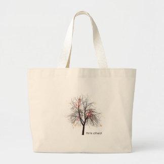 Atheist Tree Jumbo Tote Bag