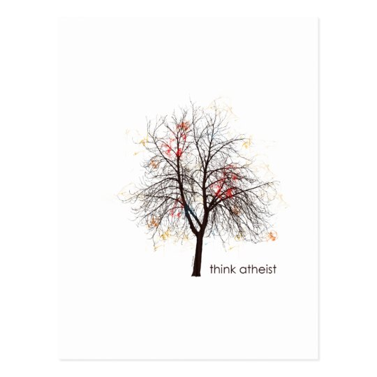 Atheist Tree Postcard