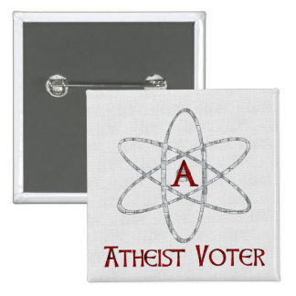 ATHEIST VOTER 2 INCH SQUARE BUTTON