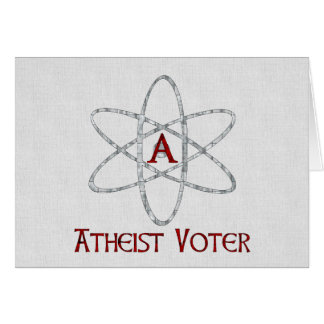 ATHEIST VOTER CARD