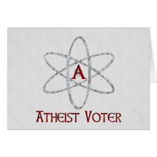 ATHEIST VOTER CARD
