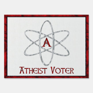 ATHEIST VOTER LAWN SIGN