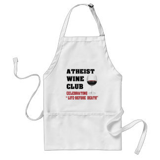 Atheist wine club adult apron