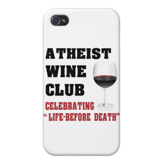 Atheist wine club covers for iPhone 4