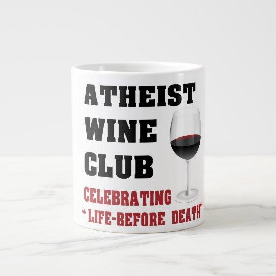 Atheist wine club large coffee mug