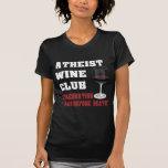 Atheist wine club t shirt