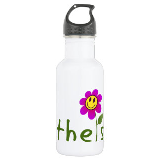 Atheist (with happy flower) Reusable Bottle