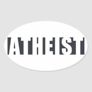 Atheist Within Oval Sticker