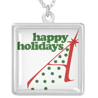 Atheist Xmas Tree Silver Plated Necklace
