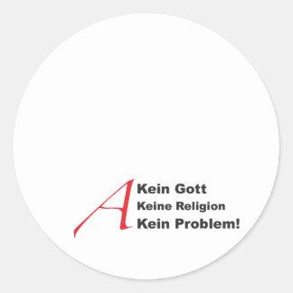 atheistA1 Classic Round Sticker