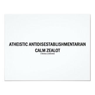 Atheistic Antidisestablishmentarian Calm Zealot Card