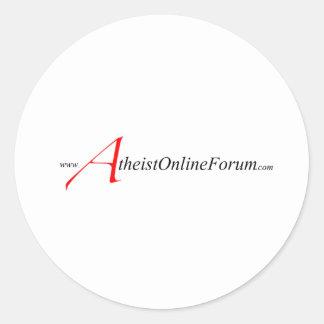 AtheistOnlineForum logo Classic Round Sticker