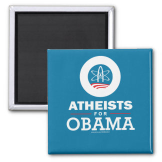 Atheists for Obama 2 Inch Square Magnet