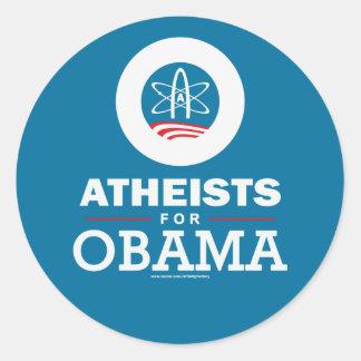 Atheists for Obama Classic Round Sticker