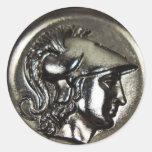 Athena 1 etiquetas redondas