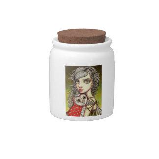 Athena and her Royal Companion Candy Jar