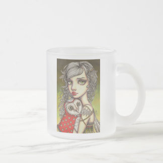 Athena and her Royal Companion Frosted Glass Coffee Mug