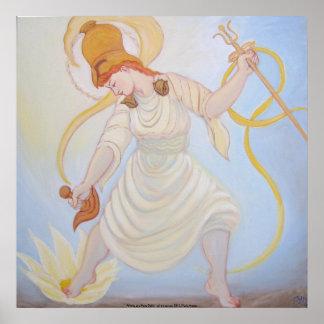 Athena as a Naro Dakini Poster
