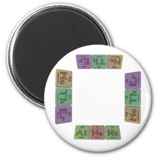 Athena as Astatine Helium Sodium 2 Inch Round Magnet