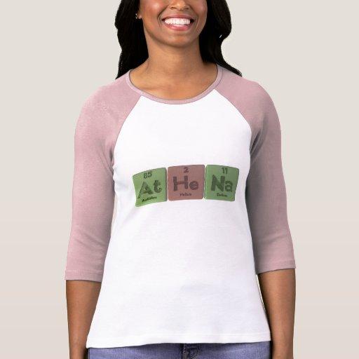 Athena como sodio del helio del astatino camisetas