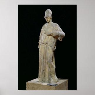 Athena con un cist copia romana de un siglo IV Posters
