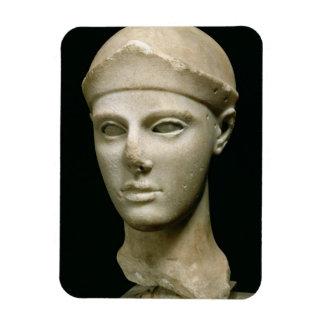 Athena de Aegina, llevando un casco, jefe de a Imán De Vinilo