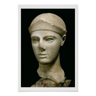 Athena de Aegina, llevando un casco, jefe de a Poster