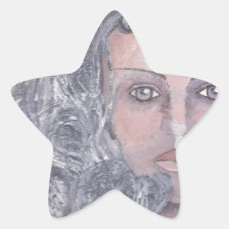 Athena el gris pegatina en forma de estrella