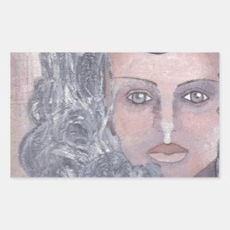 Athena el gris pegatina rectangular