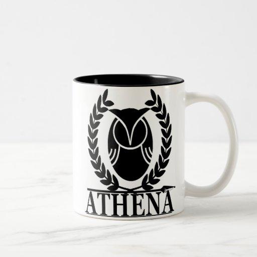 Athena - Goddess of Wisdom Two-Tone Coffee Mug
