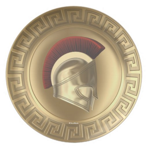 Athena Greek Goddess Shield Helmet Plate | Zazzle