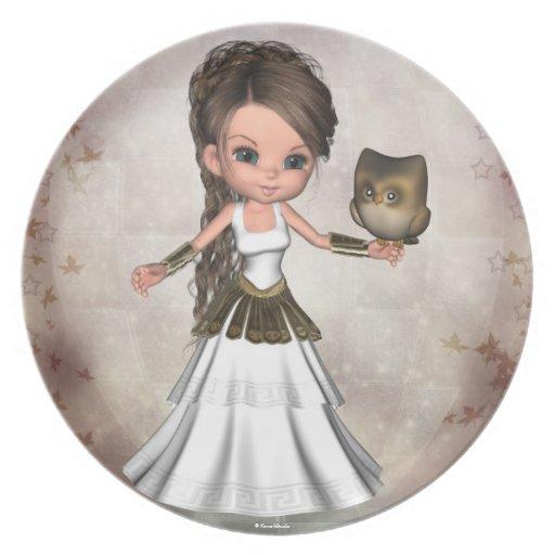 Athena Greek Goddess Shield Sandles Plate | Zazzle