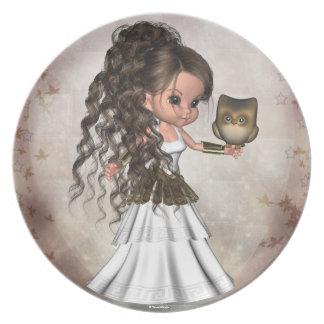 Athena Greek Goddess Shield Sandles Plate