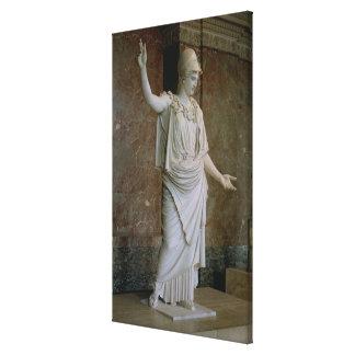 Athena, Greek, probably 5th century BC (marble) Canvas Print