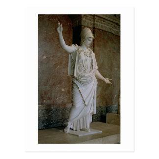 Athena, Griego, probablemente del siglo V A.C. Postal