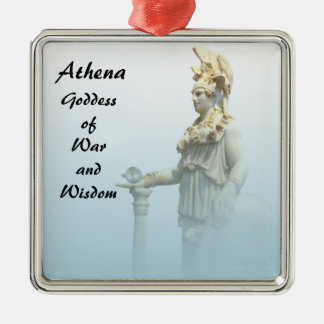 Athena in the Mist Metal Ornament