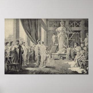 Athena in the Parthenon Print