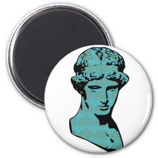 Athena Marble Statue 2 Inch Round Magnet