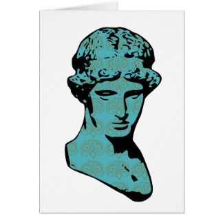 Athena Marble Statue Card