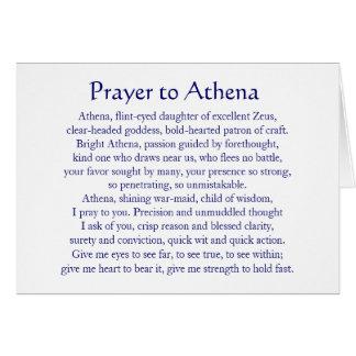 Athena Notecard Tarjeta