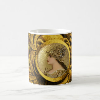 ATHENA PORTRAIT WITH GOLDEN HELMET AND GRYPHONS COFFEE MUG