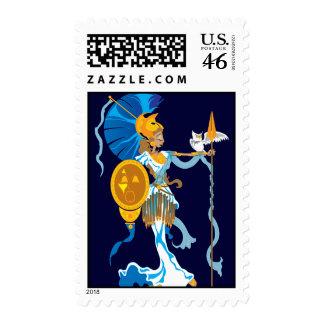 Athena Postage Stamps