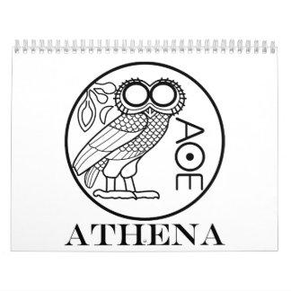 Athena's owl tetradrachm (Engravers Font) Calendar