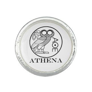 Athena's owl tetradrachm (Engravers Font) Ring