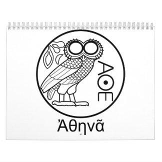 Athena's owl tetradrachm (Greek Font) Calendar