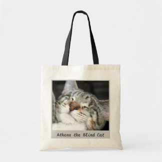 Athena the Blind Cat Budget Tote Bag