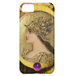 ATHENA WITH FANTASY GRIFFINS AND PURPLE GEMSTONE CASE FOR iPhone 5C