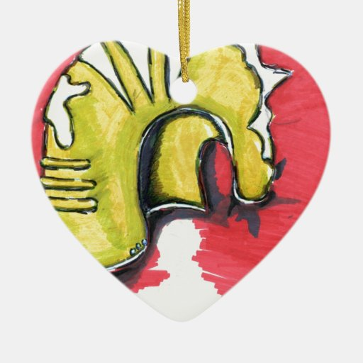Athenas Aegis Mars Knows My Heart Double-Sided Heart Ceramic Christmas Ornament