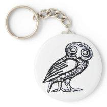 Athena's Owl Keychain