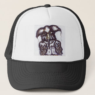 Athenas Owl of The Examined Life Trucker Hat